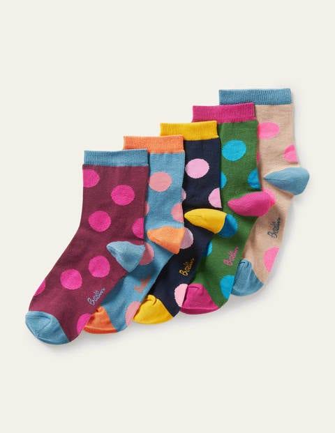 Five Pack Ankle Socks