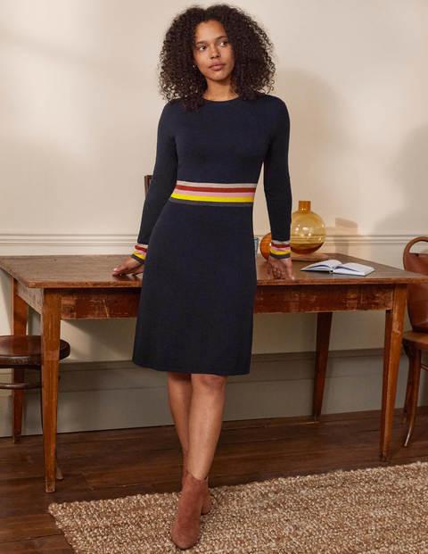 Stripe Waist Knitted Dress