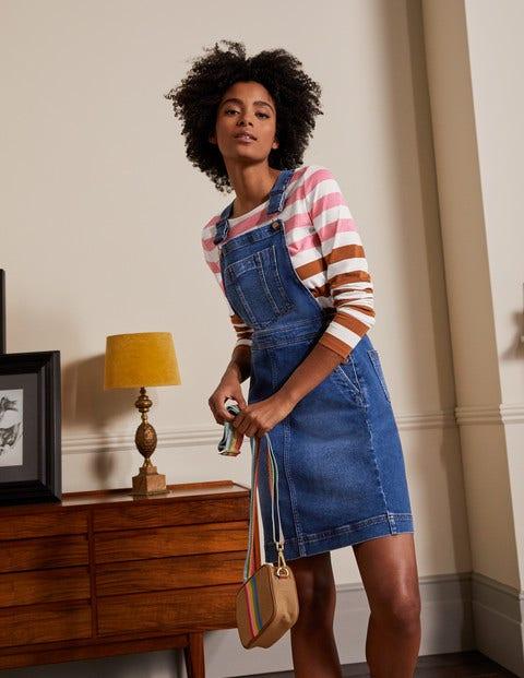 Easy Overall Dress - Mid Vintage Denim