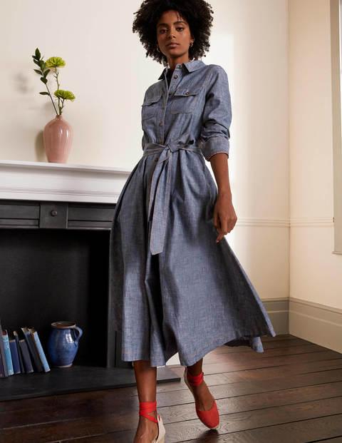 Colette Chambray Midi Dress