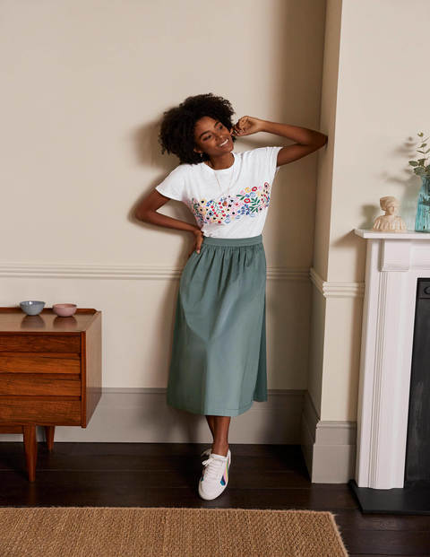 Lena Embroidered Jersey Tee