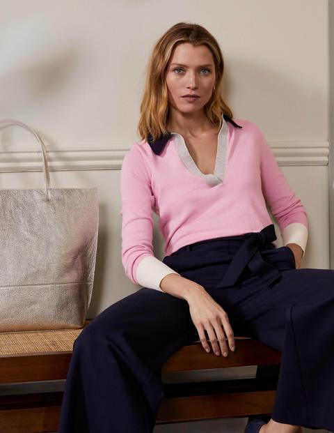 Pullover mit Kragen - Zartes Rosa