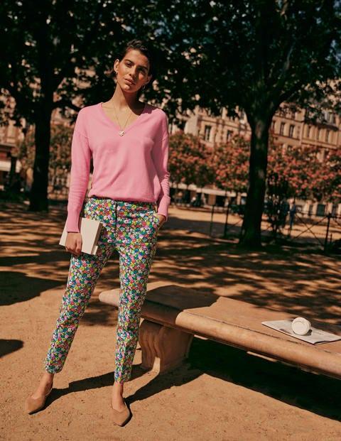 Cashmere V-neck Relaxed Jumper - Rose Quartz Pink