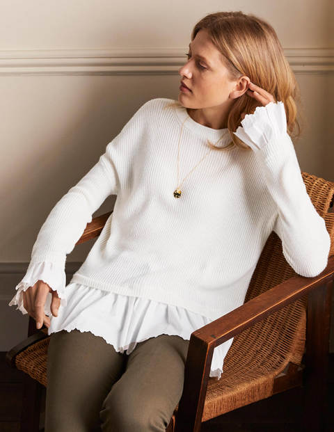 Catherine Woven Fluffy Jumper