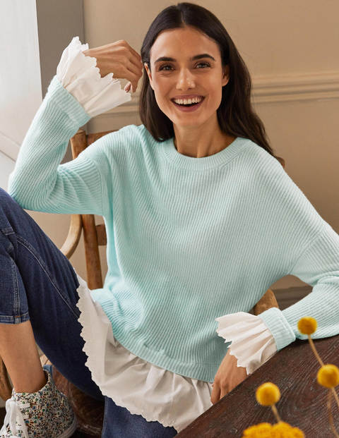 Catherine Woven Fluffy Jumper - Fresh Water