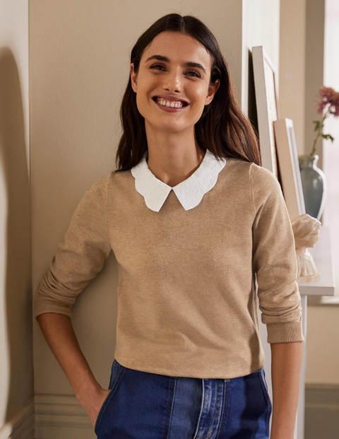 Colette Collar Sweater - Camel Melange