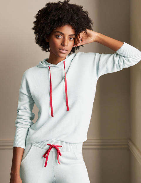 Knitted Relaxed Hoodie - Fresh Water