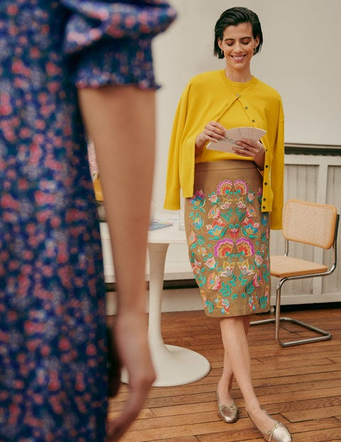 Caitlin Embroidered Skirt