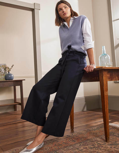 Ponte Pull-On Culottes - Navy