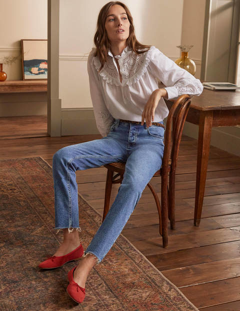 Lockere Jeans mit geradem Bein