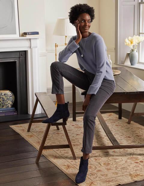 Schmale Cord-Jeans mit geradem Bein
