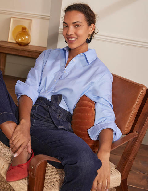 Agnes Oversized Shirt - Blue Oxford
