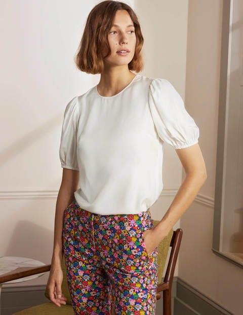 Adriana Puff Sleeve Top - Ivory