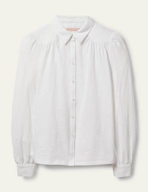 Gathered Detail Jersey Shirt