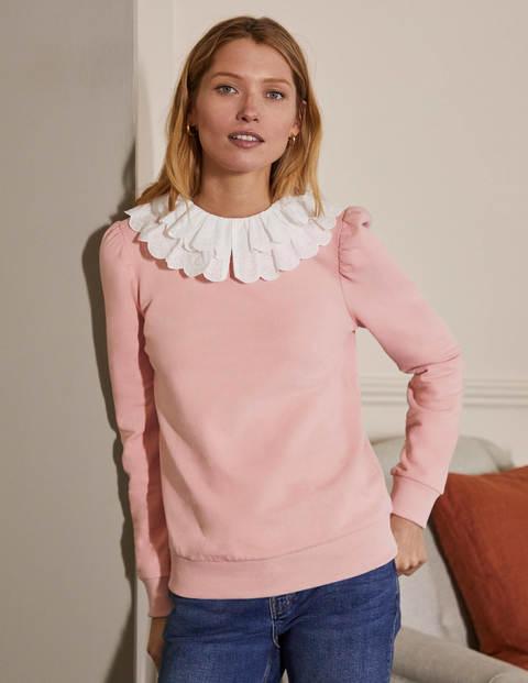 Hattie Collar Sweatshirt - Milkshake