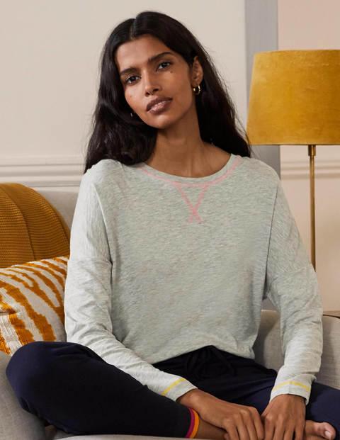 Contrast Stitch Jersey Top