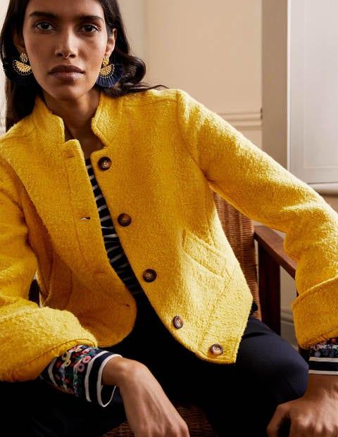 Veste en laine texturée