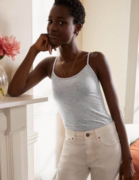 Plain Cami - Grey Marl