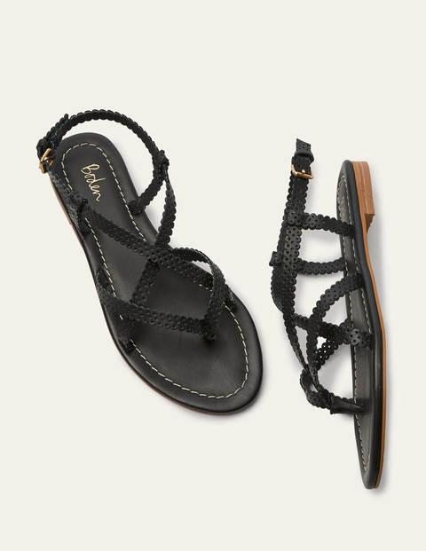 Deborah Strappy Sandals - Black