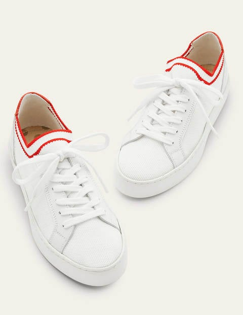 Hazel Trainers - White/Red