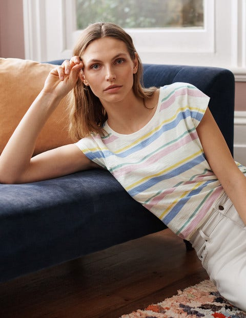 T-shirt Robyn en jersey - Rayé multi pastel