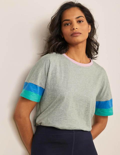 Clarissa Jersey-T-Shirt - Grau Meliert
