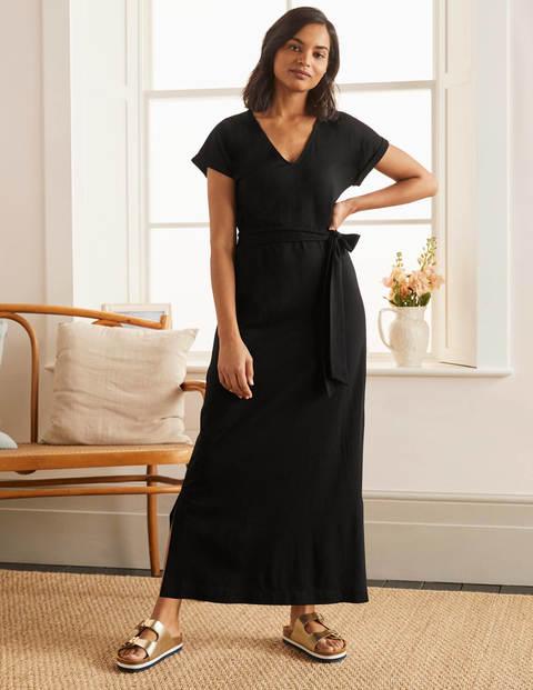Ella T-shirt Midi Dress - Black