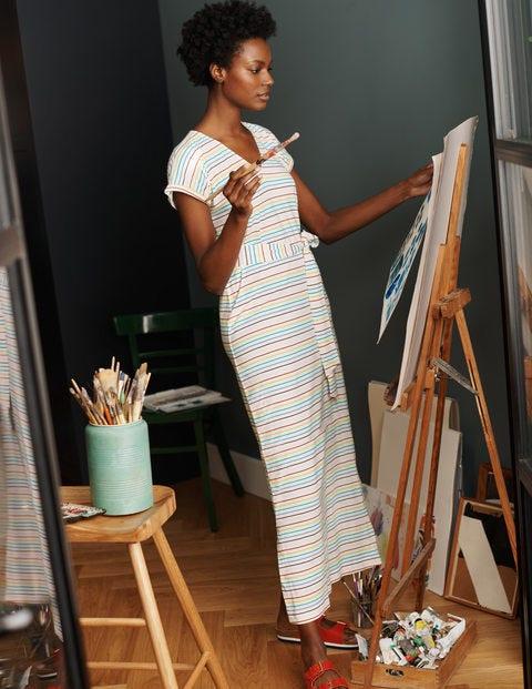 Ella T-shirt Midi Dress - Summer Rainbow Multi Breton