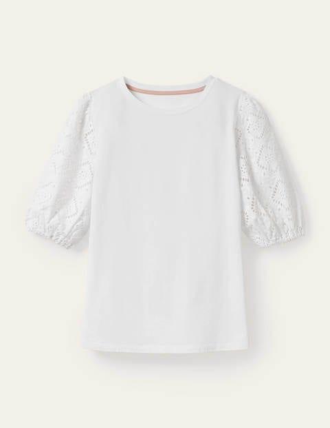 Abigail Puff Sleeve Jersey Top