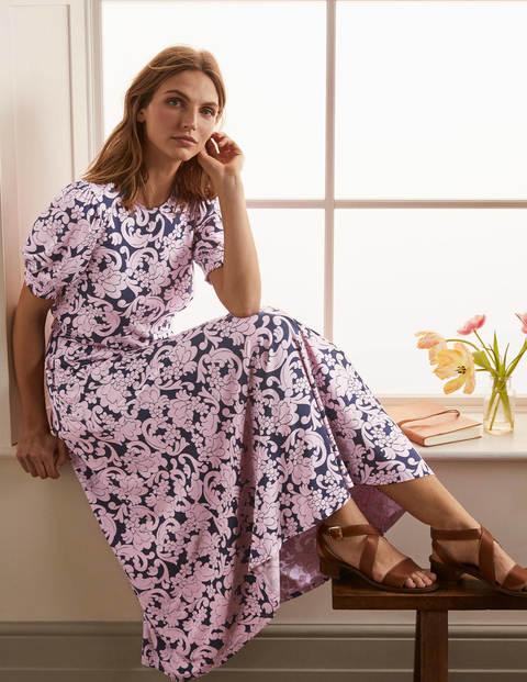Sophia Smocked Midi Dress - Navy, Groovy Floral