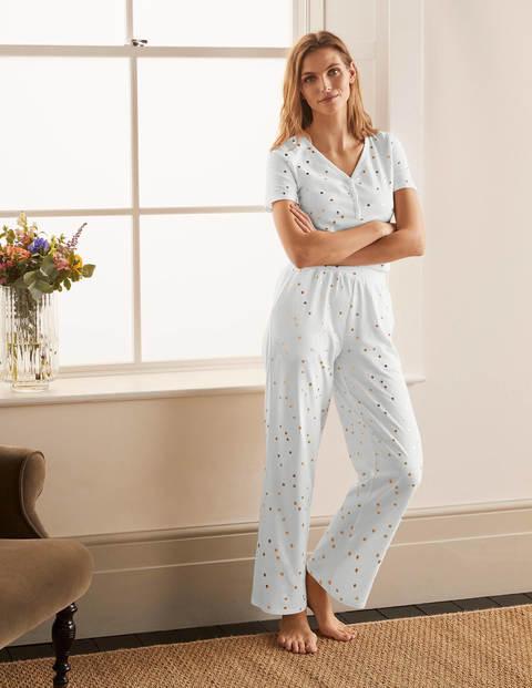 Emma Pyjama Bottoms - Ivory, Scattered Spot