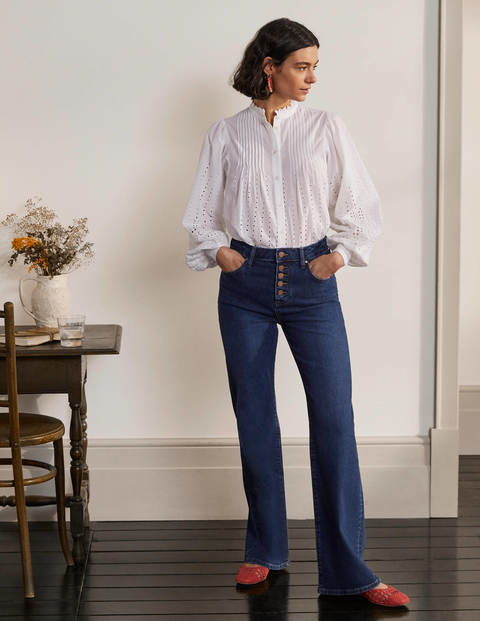 Button Fly Relaxed Flares