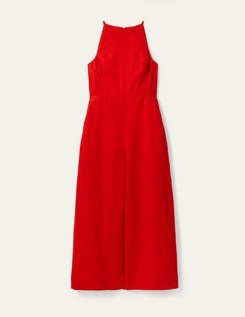Halterneck Linen Jumpsuit