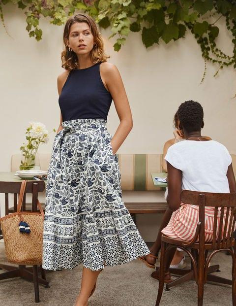 Jane Tiered Cotton Skirt