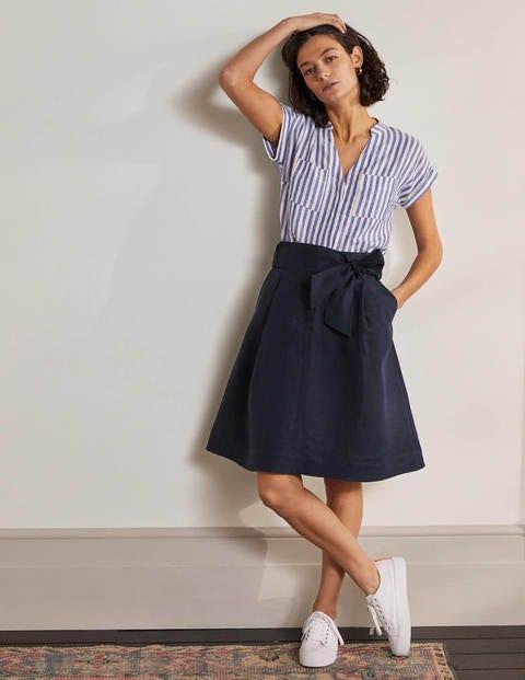 Tie Waist Slouchy Skirt