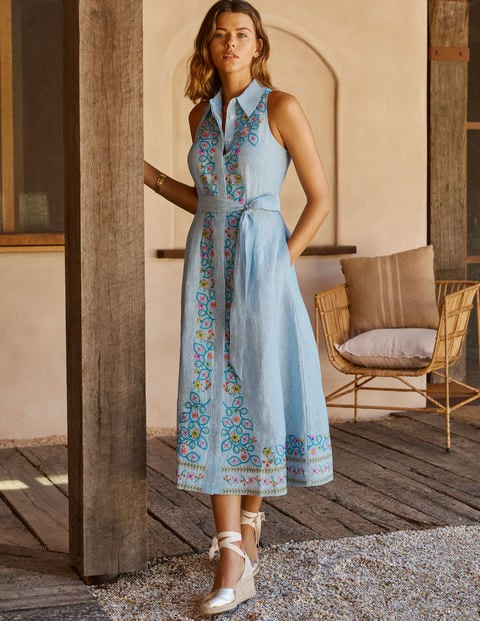 Kate Linen Shirt Dress