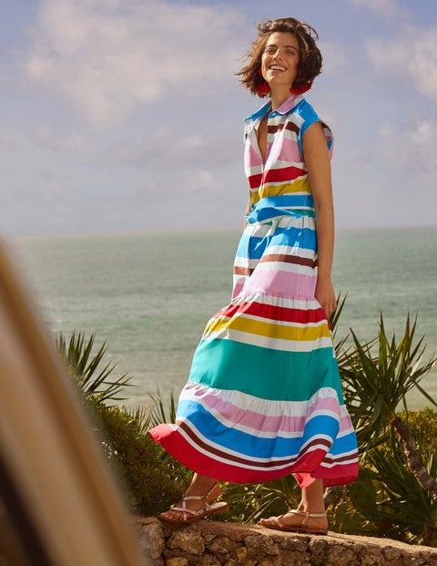 Betty Maxi-Hemdblusenkleid - Bunt, Sommerliche Streifen