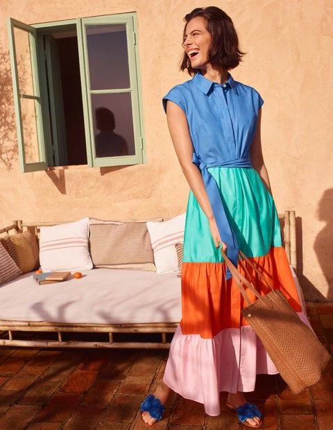 Betty Maxi Shirt Dress - Marina