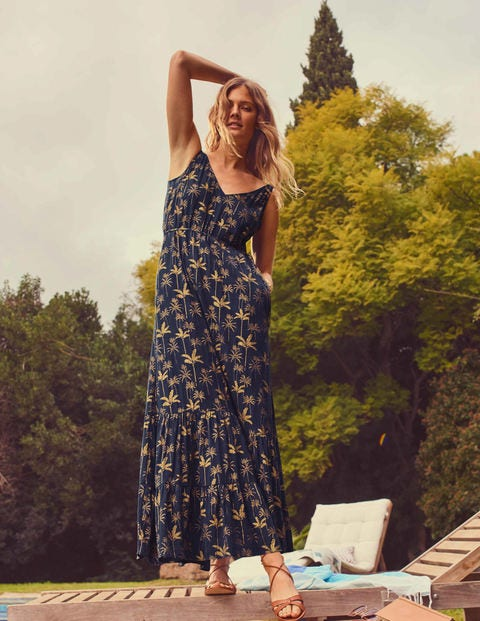 Alicia Maxi Dress - French Navy, Rainforest