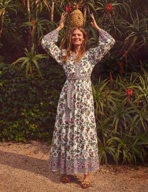 Robe longue Amelia en coton