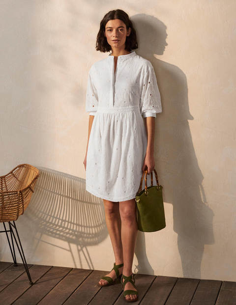 Broderie Cotton Dress