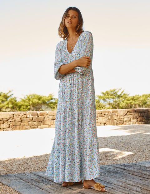 Blouson Sleeve Maxi Dress