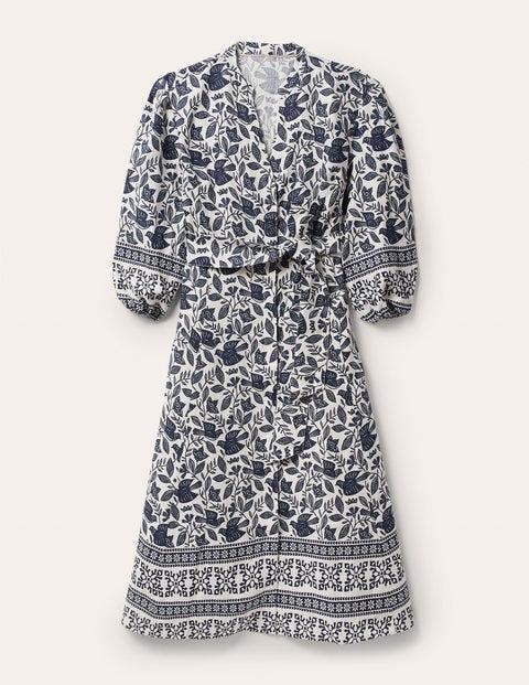 Addie Linen Midi Dress