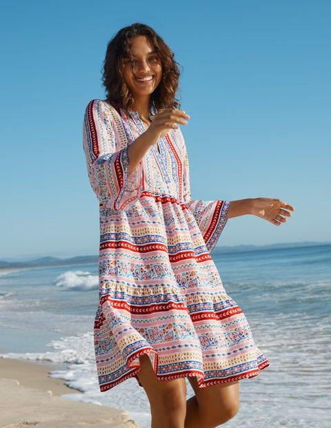 Relaxed Linen Tiered Dress