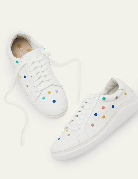 Maria Comfort Sneakers - Maize, Embroidered Spot