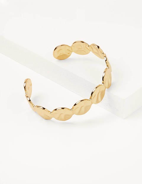 Hammered Disk Bangle