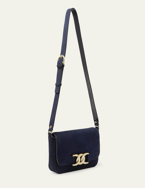 Rebecca Crossbody Bag - Navy Suede
