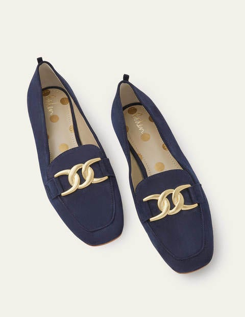 Martha Loafers - Navy Suede