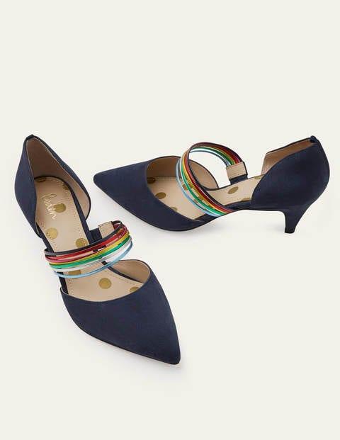 Marina Kitten Heels - Navy