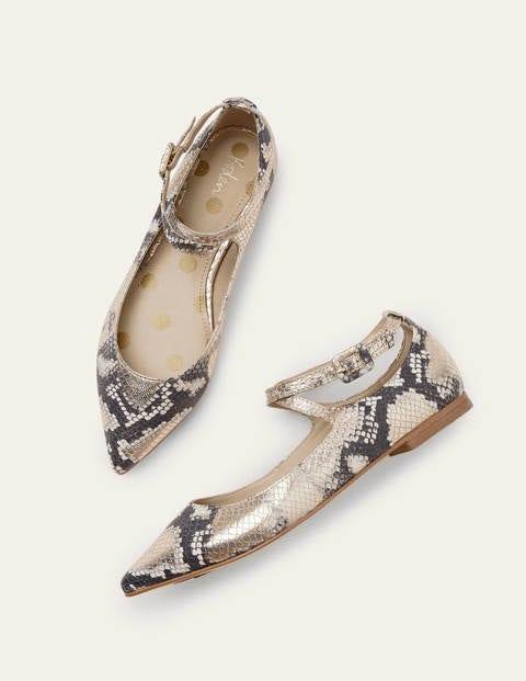 Flora Flats - Metallic Snake
